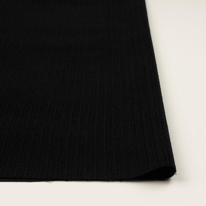 ウール×無地(ブラック)×太コーデュロイ イメージ3