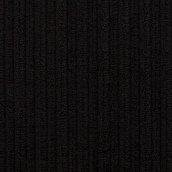 ウール×無地(ブラック)×太コーデュロイ