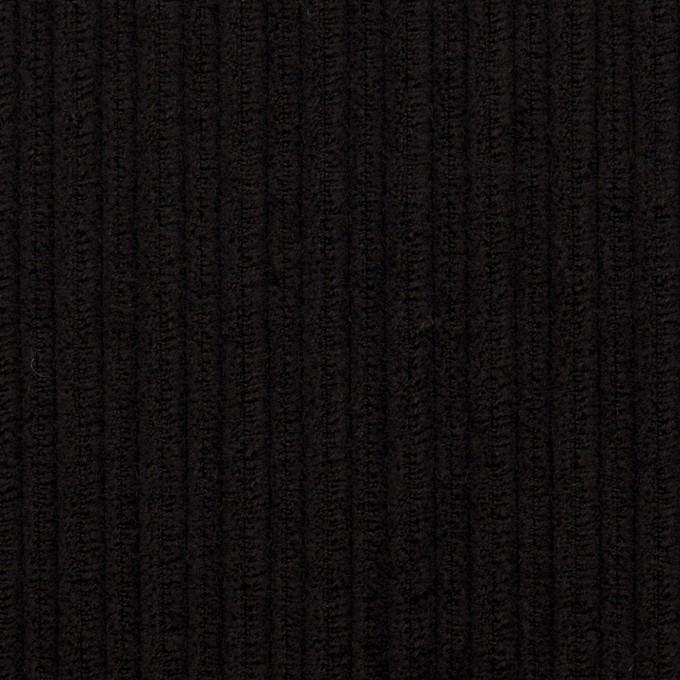 ウール×無地(ブラック)×太コーデュロイ イメージ1