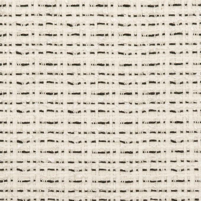 コットン&レーヨン混×ミックス(オフホワイト&ブラック)×ファンシーツイード イメージ1