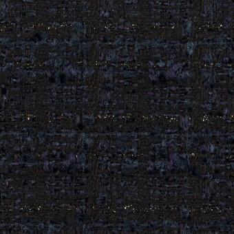 コットン&ナイロン混×ミックス(ネイビー)×ファンシーツイード_全2色