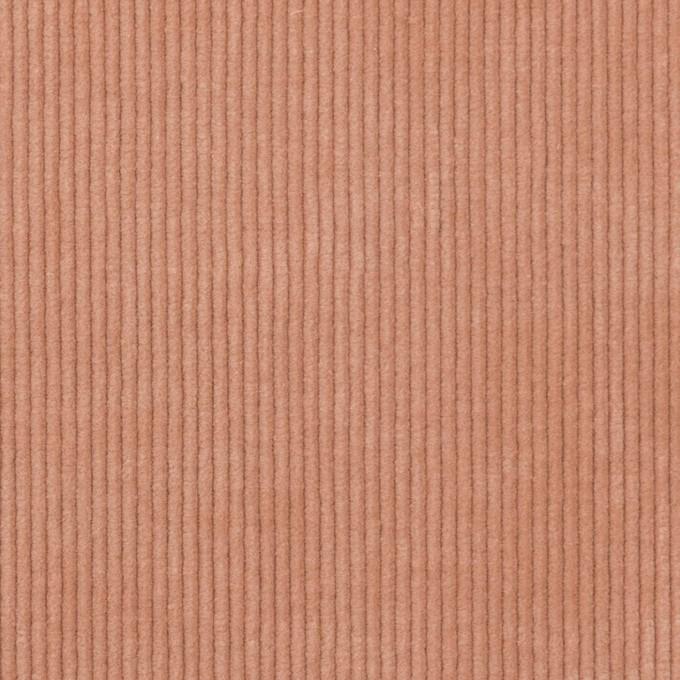 ポリエステル&コットン混×無地(サーモン)×中細コーデュロイ・ストレッチ(クラッシュ加工) イメージ1