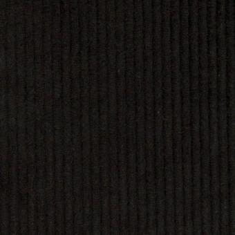 コットン&ポリウレタン×無地(ブラック)×中コーデュロイ・ストレッチ