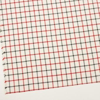 コットン×チェック(エクリュ、レッド&ブラック)×ビエラ サムネイル2