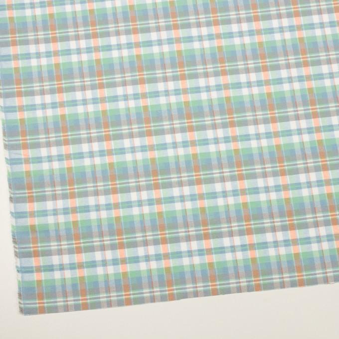 コットン×チェック(スカイブルー、ミント&オレンジ)×ビエラ イメージ2