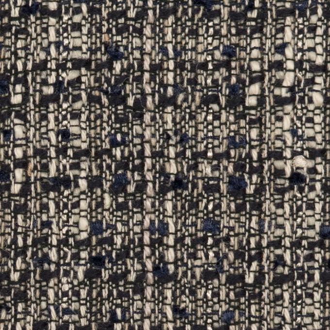 コットン&ウール混×ミックス(ブラック&エクリュ)×ファンシーツイード イメージ1