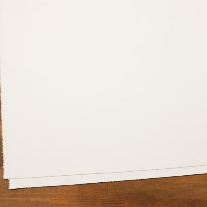コットン&ウール混×無地(ミルク)×フランネル・ストレッチ イメージ2