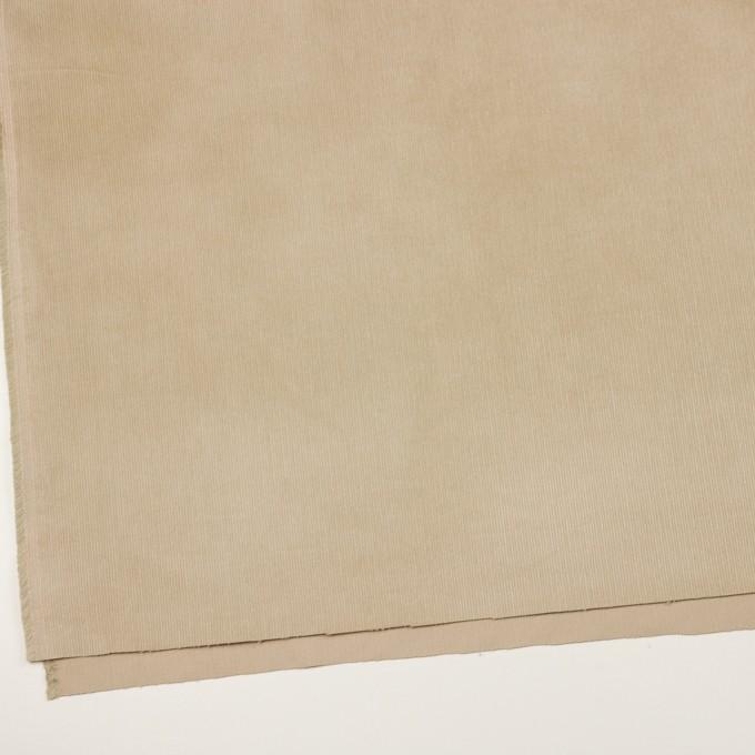 コットン&ポリウレタン×無地(カーキベージュ)×中細コーデュロイ・ストレッチ_全3色 イメージ2