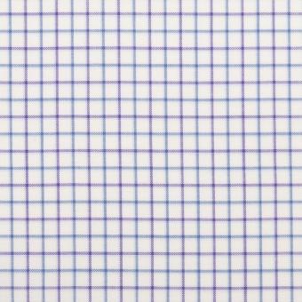 コットン×チェック(パープル&ブルー)×ブロード