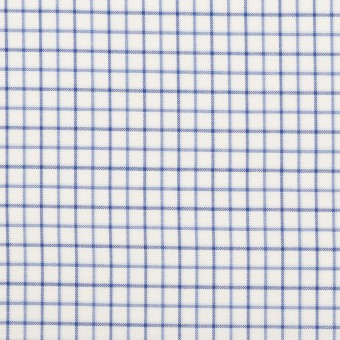 コットン×チェック(ブルー&ネイビー)×ブロード サムネイル1