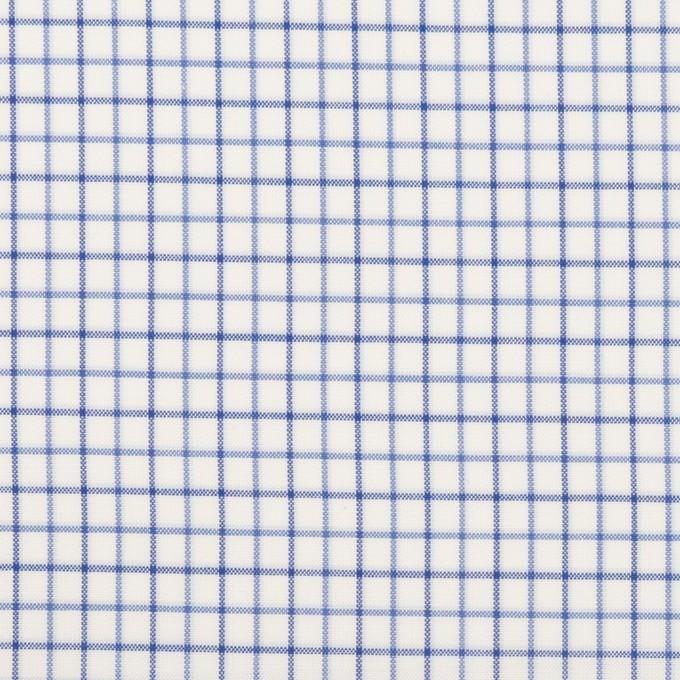 コットン×チェック(ブルー&ネイビー)×ブロード イメージ1