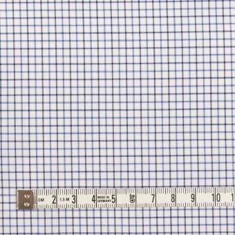 コットン×チェック(ブルー&チャコール)×ブロード サムネイル4