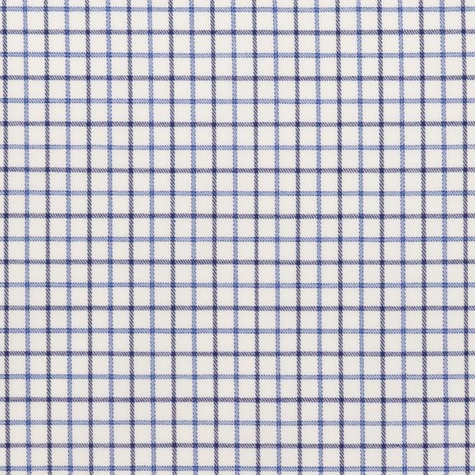コットン×チェック(ブルー&チャコール)×ブロード イメージ1