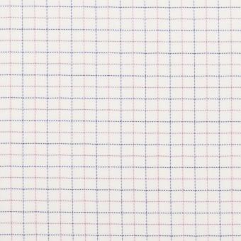 コットン&ポリエステル×チェック(モーブ&ネイビー)×ジャガード_全2色