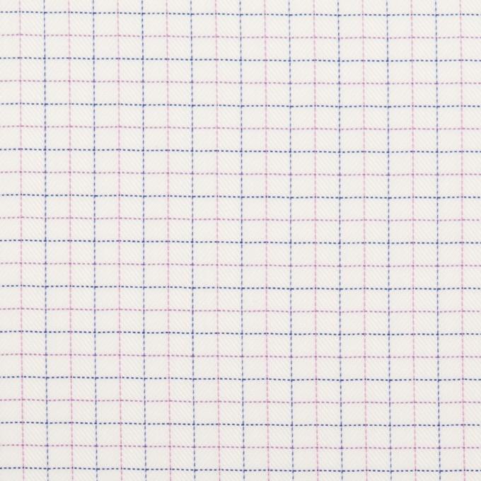 コットン&ポリエステル×チェック(モーブ&ネイビー)×ジャガード_全2色 イメージ1