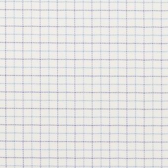 コットン&ポリエステル×チェック(サックス&ネイビー)×ジャガード_全2色