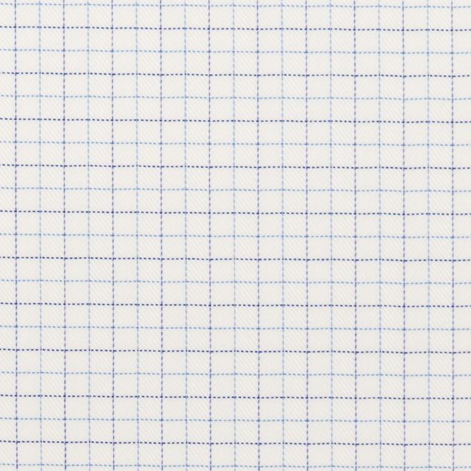 コットン&ポリエステル×チェック(サックス&ネイビー)×ジャガード_全2色 イメージ1