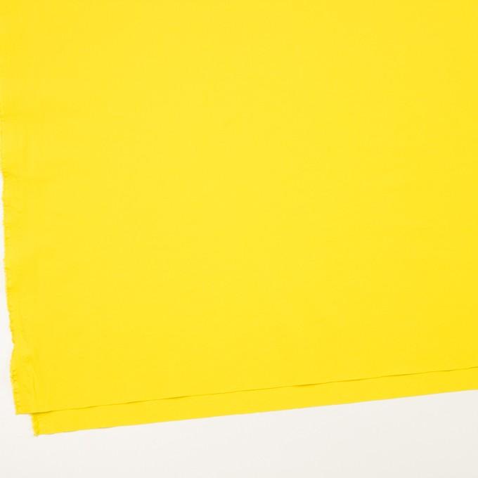 ポリエステル&ポリウレタン×無地(レモン)×サージ・ストレッチ_全10色 イメージ2