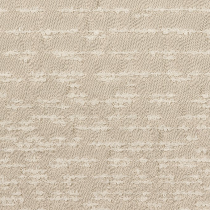 ポリエステル&シルク混×ボーダー(シャンパン)×サテンジャガード_パネル イメージ1