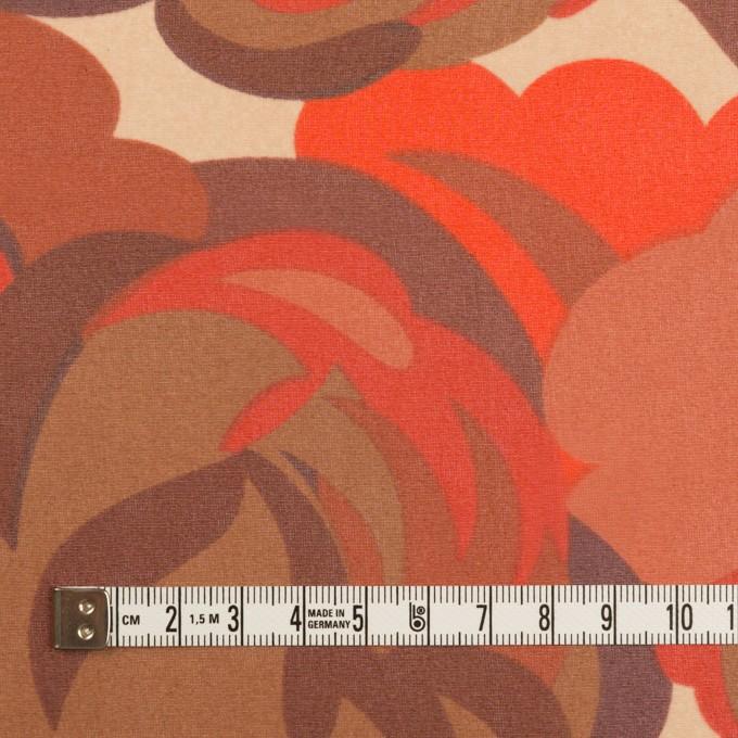 ポリエステル×幾何学模様(レッド&モカブラウン)×ジョーゼット イメージ4