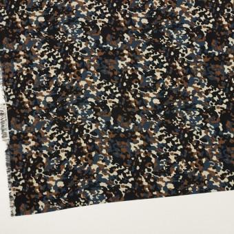 ポリエステル×ペイント(ブラウン&インクブルー)×デシン_全2色 サムネイル2