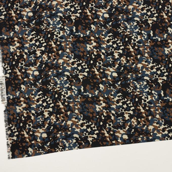 ポリエステル×ペイント(ブラウン&インクブルー)×デシン_全2色 イメージ2