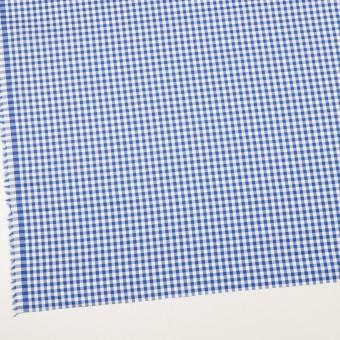 コットン×チェック(オリエンタルブルー)×斜子織_全2色 サムネイル2