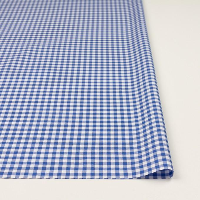 コットン×チェック(オリエンタルブルー)×斜子織_全2色 イメージ3