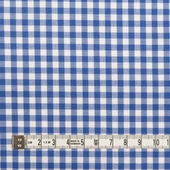 コットン×チェック(オリエンタルブルー)×斜子織_全2色 サムネイル4
