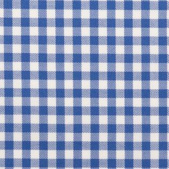 コットン×チェック(オリエンタルブルー)×斜子織_全2色 サムネイル1