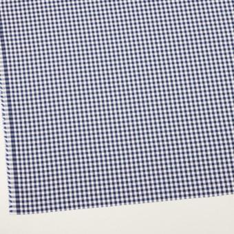 コットン×チェック(プルシアンブルー)×斜子織_全2色 サムネイル2