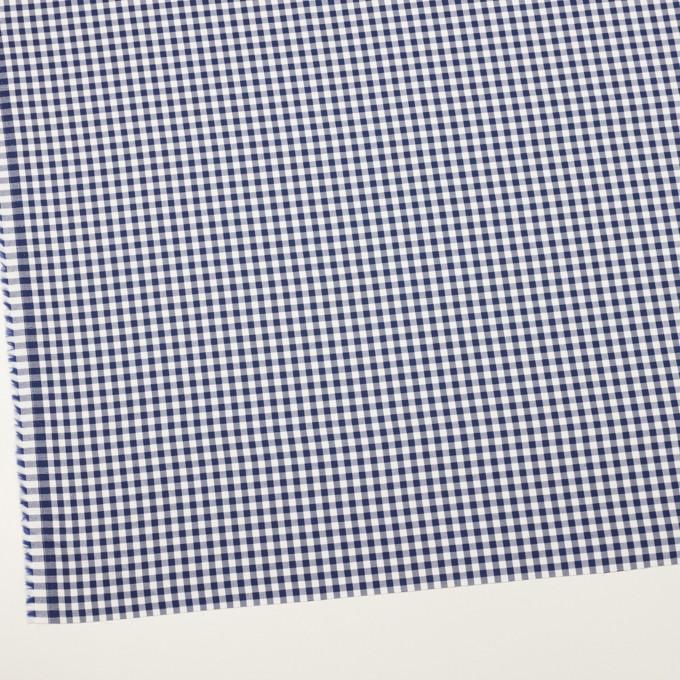 コットン×チェック(プルシアンブルー)×斜子織_全2色 イメージ2