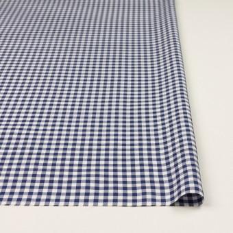 コットン×チェック(プルシアンブルー)×斜子織_全2色 サムネイル3