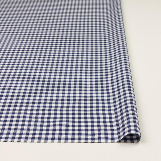 コットン×チェック(プルシアンブルー)×斜子織_全2色 イメージ3