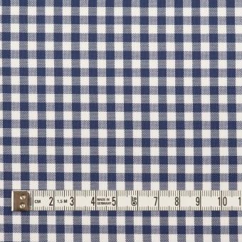 コットン×チェック(プルシアンブルー)×斜子織_全2色 サムネイル4
