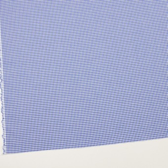 コットン&ポリウレタン×チェック(オリエンタルブルー)×ローンストレッチ サムネイル2