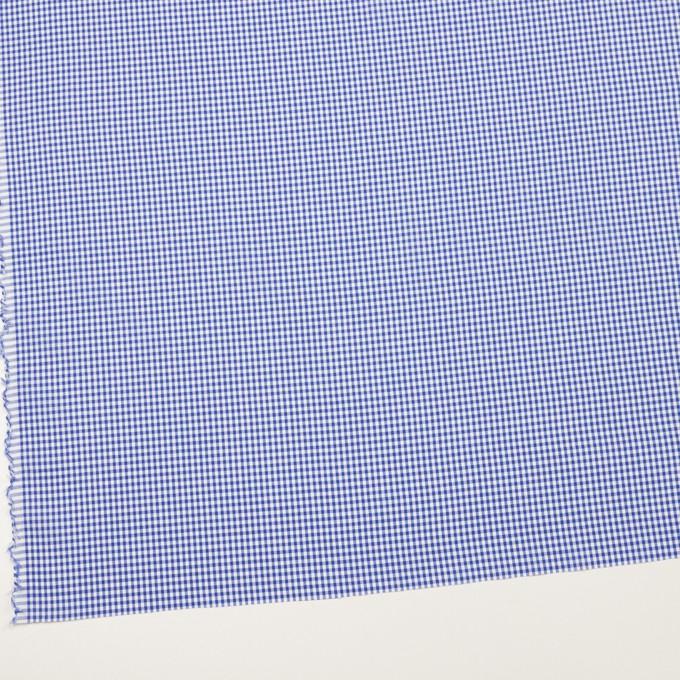 コットン&ポリウレタン×チェック(オリエンタルブルー)×ローンストレッチ イメージ2