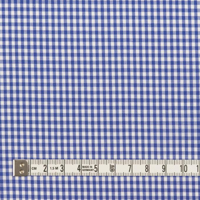 コットン&ポリウレタン×チェック(オリエンタルブルー)×ローンストレッチ イメージ4