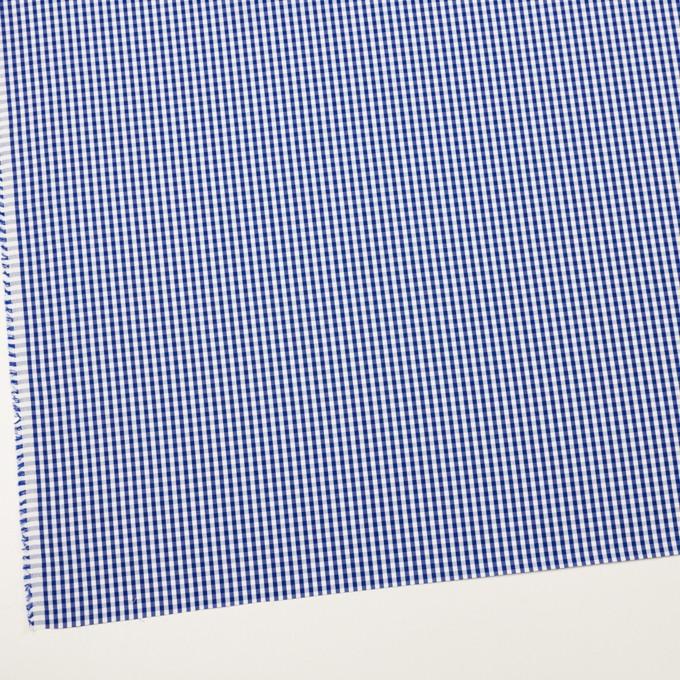 コットン×チェック(マリンブルー)×ブロード イメージ2