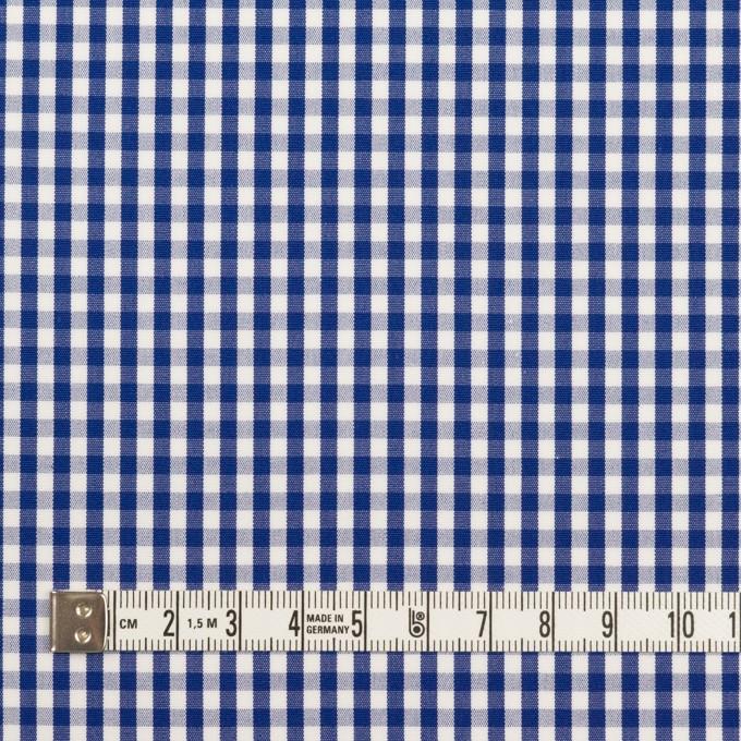 コットン×チェック(マリンブルー)×ブロード イメージ4