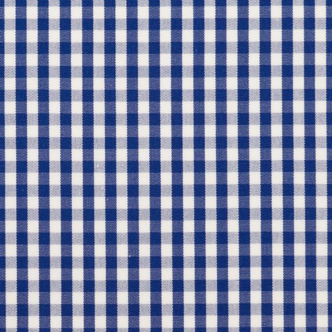 コットン×チェック(マリンブルー)×ブロード イメージ1