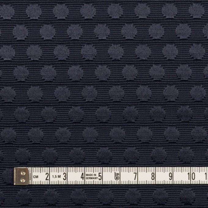 ポリエステル&コットン×水玉(ネイビー)×ジャガード イメージ4
