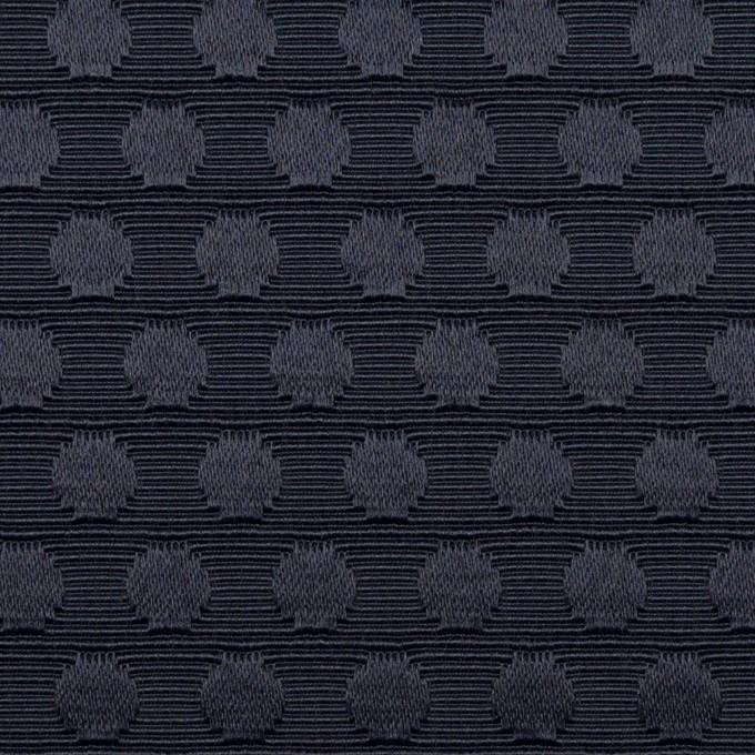 ポリエステル&コットン×水玉(ネイビー)×ジャガード イメージ1