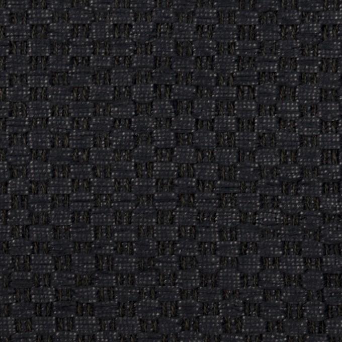 リネン&ポリアミド混×無地(ダークネイビー)×ファンシーツイード_イタリア製 イメージ1