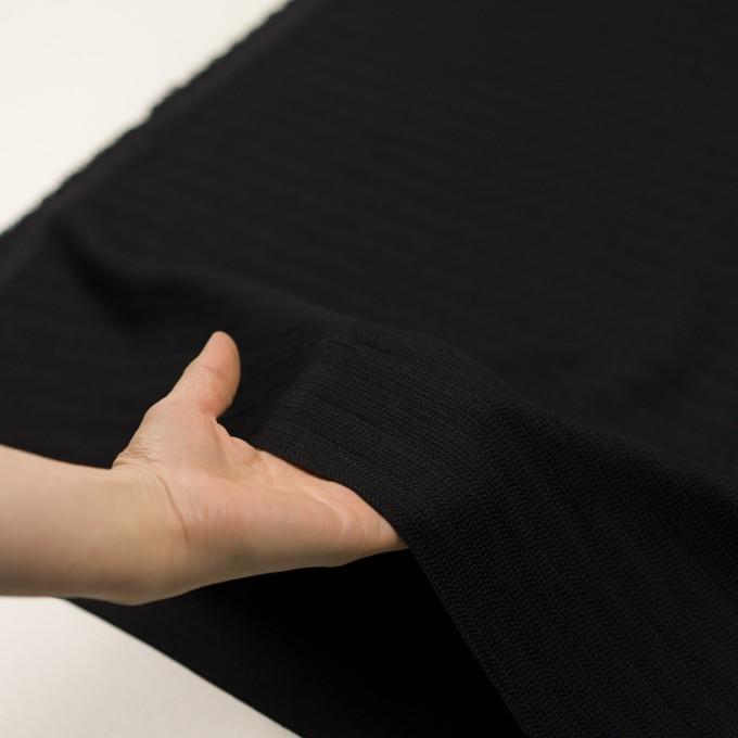 ポリエステル×無地(ブラック)×かわり織 イメージ5