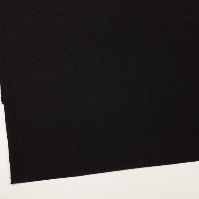 ウール×無地(ブラック)×ジャガード イメージ2