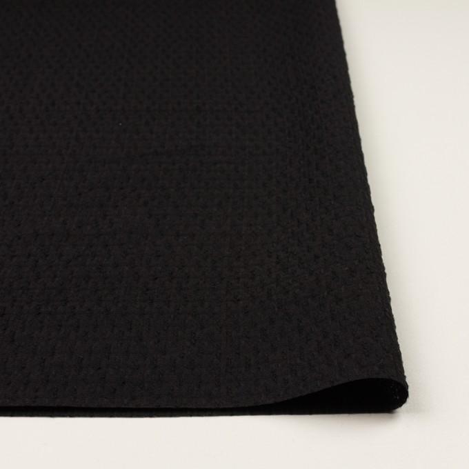 ウール×無地(ブラック)×ジャガード イメージ3