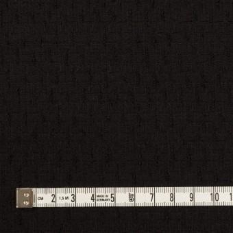ウール×無地(ブラック)×ジャガード サムネイル4