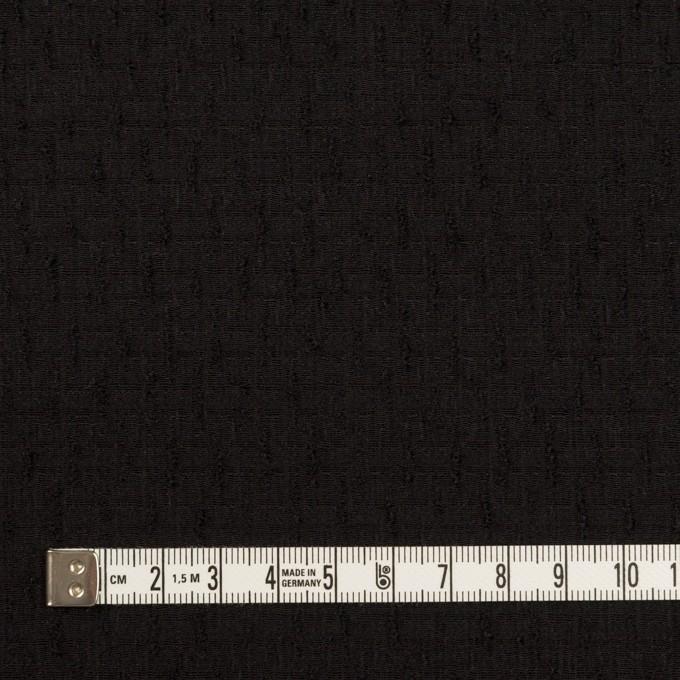 ウール×無地(ブラック)×ジャガード イメージ4