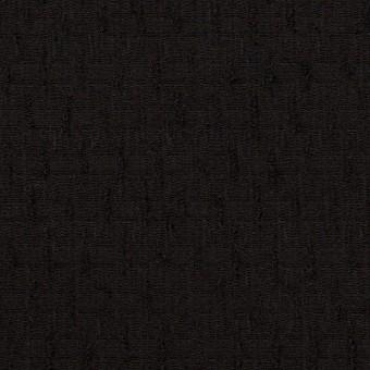 ウール×無地(ブラック)×ジャガード